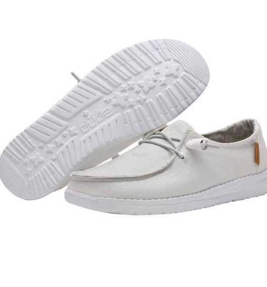 Hey Dude Shoes Women S Wendy Linen Shoes In Chambray White