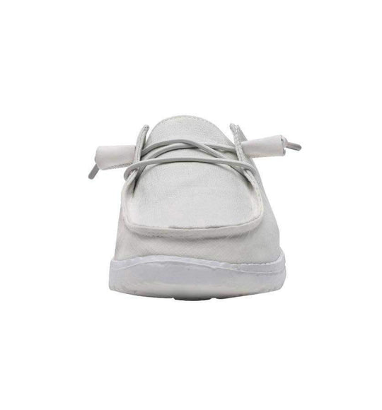 Hey Dude Shoes Womens Wendy Linen Shoes In Chambray White