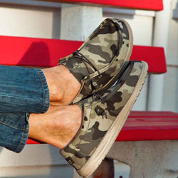 Hey Dude Shoes Men's Wally Shoes in Camo