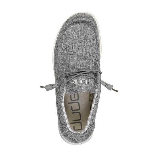 Hey Dude Shoes Men's Wally Linen Shoes in Iron