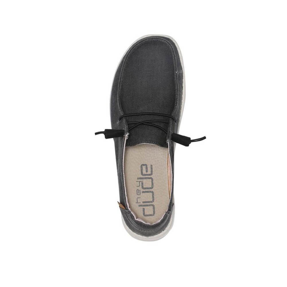 Wendy Linen Shoes in Chambray Off Black