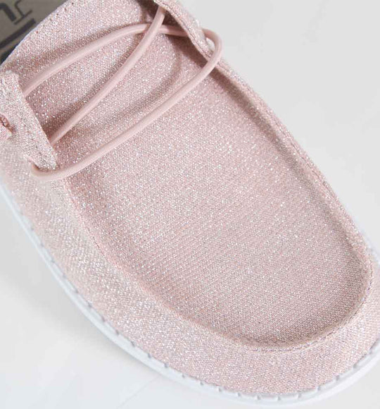 Hey Dude Shoes Women's Wendy Shoes in Sparkling Pink