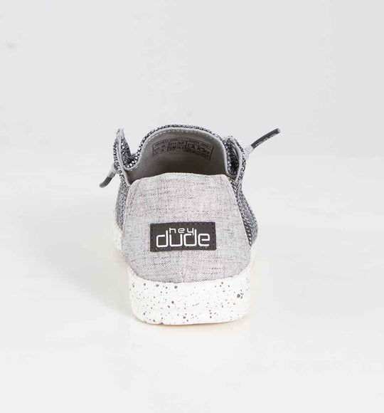 Hey Dude Shoes Women's Wendy Sox Shoes in Micro Dark Grey