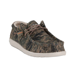 Hey Dude Shoes Men's Wally Sox Micro Shoes in Woodland Camo