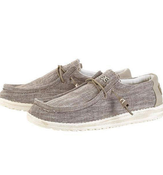 Hey Dude Shoes Mens Wally Woven Shoes in Beige 110390500