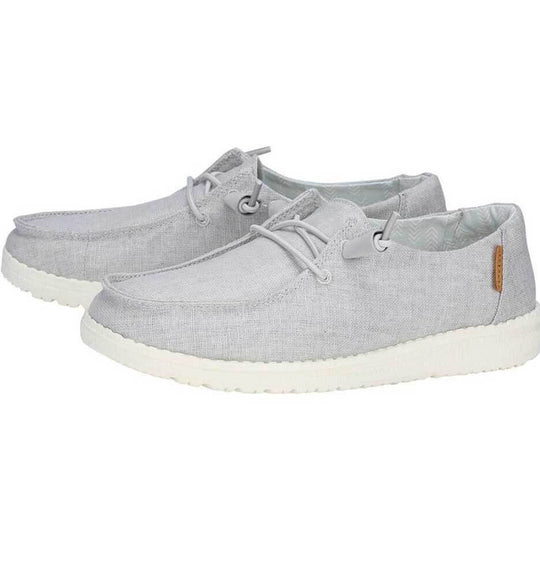 Hey Dude Shoes Women's Wendy Chambray Shoes in Light Grey