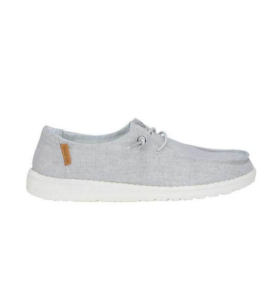 Hey Dude Shoes Women's Wendy Linen Shoes in Chambray Light Grey