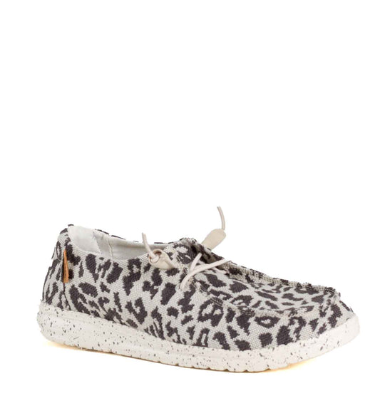 Hey Dude Shoes Women's Wendy Jungle Shoes in Cheetah Grey