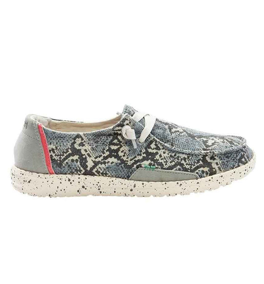 Hey Dude Shoes Women's Wendy Jungle Shoes in Jungle Grey