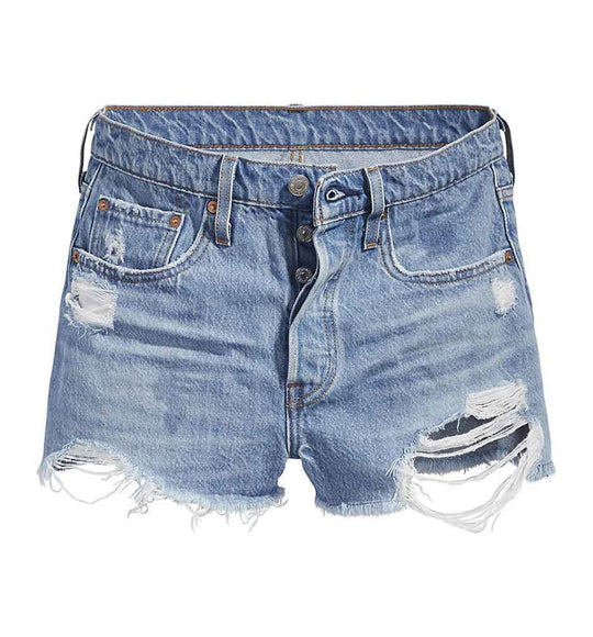 Levi's Jeans 501 High Rise Denim Shorts in Sansome Straggler Light Wash