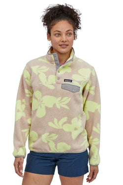 Patagonia Women's Lightweight Synchilla Snap-T Fleece Pullover in Natural