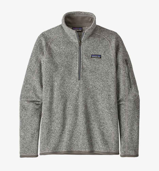 Patagonia Better Sweater Quarter Zip Pullover for Women in Birch White