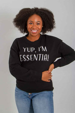 1897 I'm Essential Crewneck for Women in Black