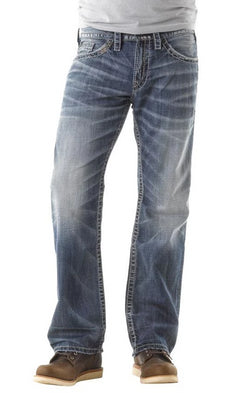 Silver Jeans Zac Relaxed Straight Jeans for Men