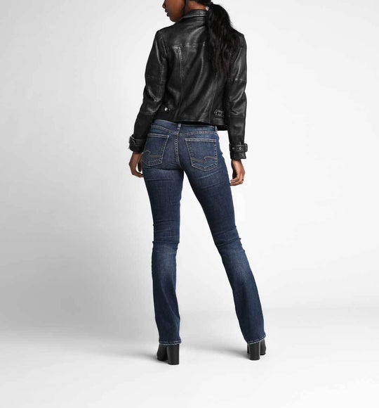 "Silver Jeans 35"" Suki Mid Rise Slim Bootcut Jeans For Women In Dark Wash 
