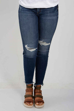 Silver Jeans Suki Mid Rise Skinny Jeans for Women in Dark Wash