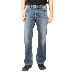 Silver Jeans Zac Relaxed Straight Jeans for Men in Medium Wash