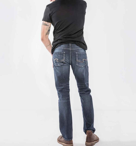 Silver Jeans Allan Classic Straight Jeans for Men in Dark Wash