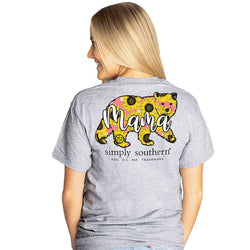 Simply Southern Shirts Mama Bear T-Shirt for Women in Heather Grey