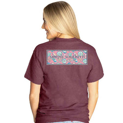 Simply Southern Shirts Shell Logo T-Shirt for Women in Maroon
