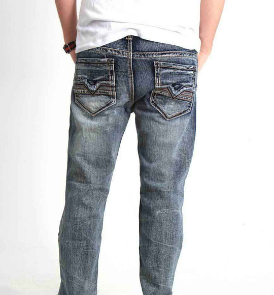 True Luck Jeans Arlington Bootcut Stretch Jeans for Men TL17150019