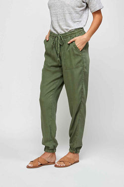 Thread and Supply Serena Jogger Pants for Women in Ivy Green