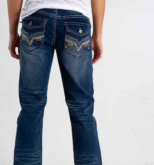 True Luck Jeans Alfred Bootcut Jeans for Men in Medium Wash