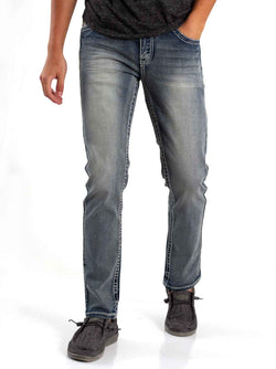 True Luck Jeans Anderson Slim Fit Jeans for Men in Full Blast
