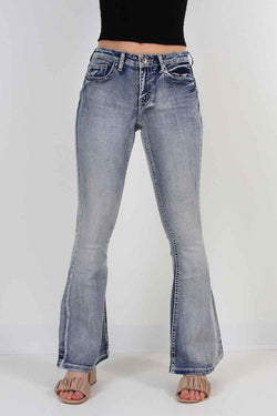 True Luck Jeans Kirk Flare Jeans in Full Blast for Women