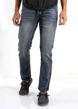 True Luck Jeans Thomas Slim Fit Jeans for Men in Dark Blast