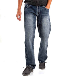 True Luck Jeans Hancock Boot Cut Jeans for Men in Dark Blast