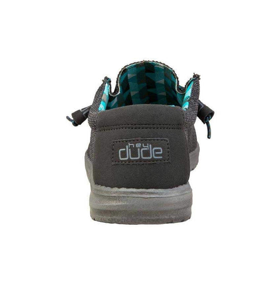 Hey Dude Shoes Men's Wally Sox Shoes in Charcoal