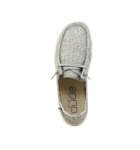 Hey Dude Shoes Women's Wendy Linen Shoes in Iron