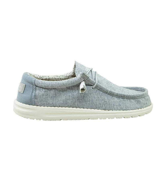 Hey Dude Shoes Men's Wally Chambray Shoes in Blue