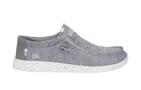 Hey Dude Shoes Men'S Wally Free Shoes In Light Grey | 150203046