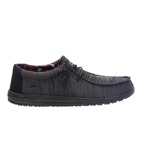 Hey Dude Shoes Men's Wally Sox Funk Shoes in Jet Black