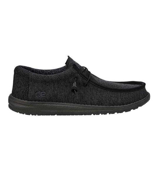 Hey Dude Shoes Men's Wally Sox Micro Shoes in Total Black