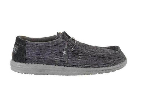 Hey Dude Shoes Mens Wally Woven Shoes in Carbon