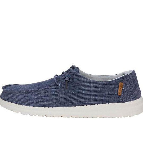 Hey Dude Shoes Women's Wendy Linen Shoes in Chambray Navy