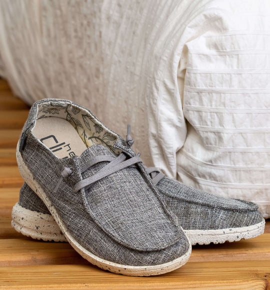 Hey Dude Womens Shoes Wendy Linen Shoes in Iron