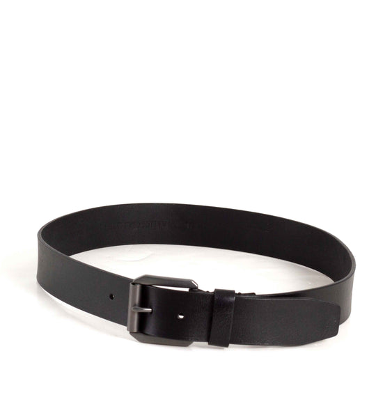 James Campbell Black Leather Belt for Men