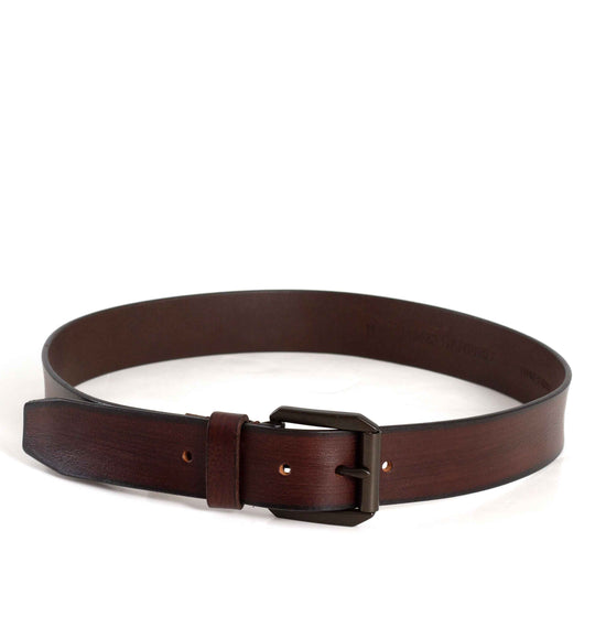 James Campbell Brown Leather Belt for Men