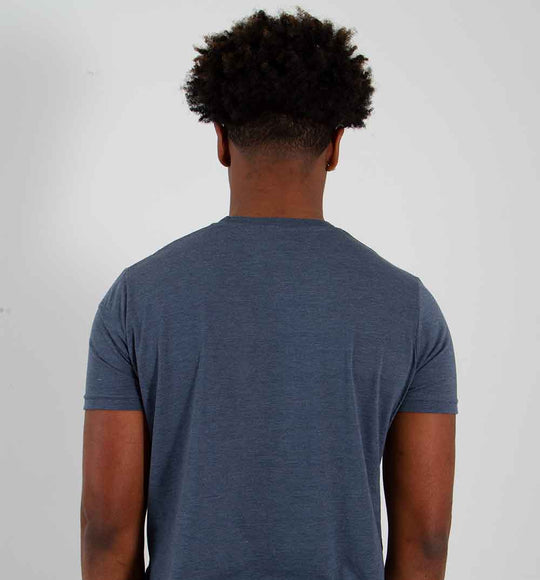 Pima Basic Crewneck Tee for Men in Indigo | 3750-INDIGO