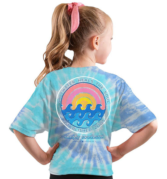 Simply Southern Youth Shirts Soul T-Shirt for Girls in Tide