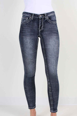 True Luck Jeans Blake Skinny Jeans in Dark Blast for Women