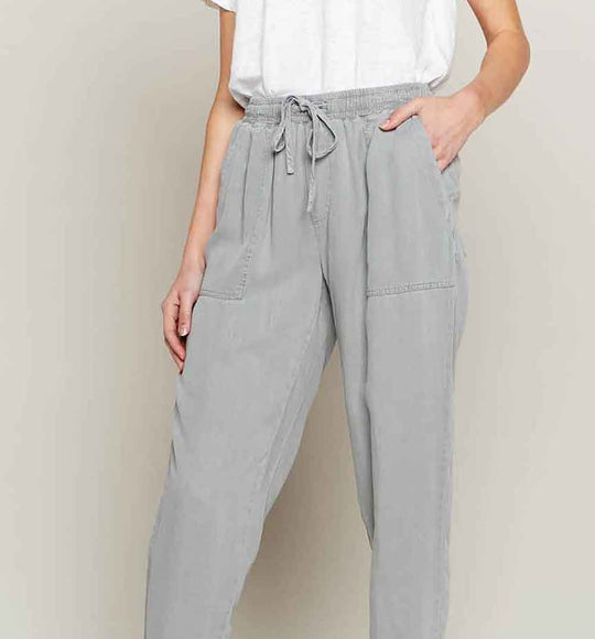 Thread and Supply Serena Jogger Pants for Women in Stone Grey | B321LZTTS-STONE
