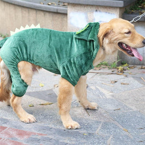 Large dog warm costume hoodies