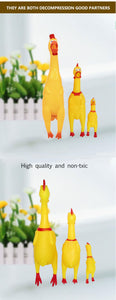 Rubber chicken squeeking toy - The Wiggle Project