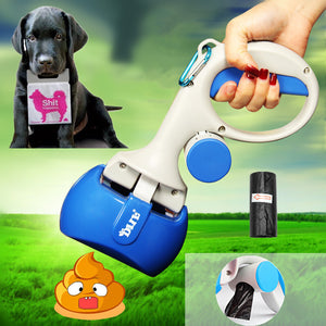 2 In 1 Pet Pooper Scooper & Poop Bags Set