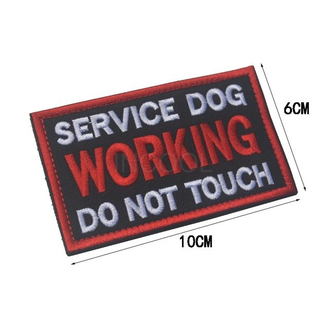 Embroidery patch for Service Dog - The Wiggle Project